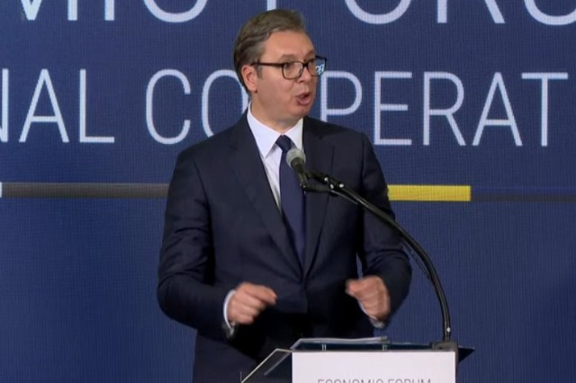 """Economic Forum/ Vucic: """"On January 1, 2023 we will have no borders"""""""
