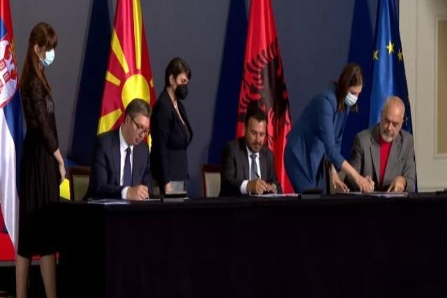 Skoplje, od slobodnog kretanja, do uvoza-izvoza, memorandumi koje su potpisali Rama, Vučić i Zaev