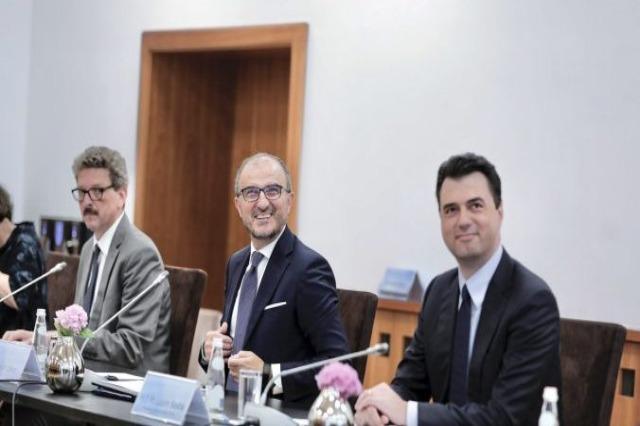 EU Ambassador Soreca, and the ambassadors of other EU countries held a meeting with DP Chairman Basha