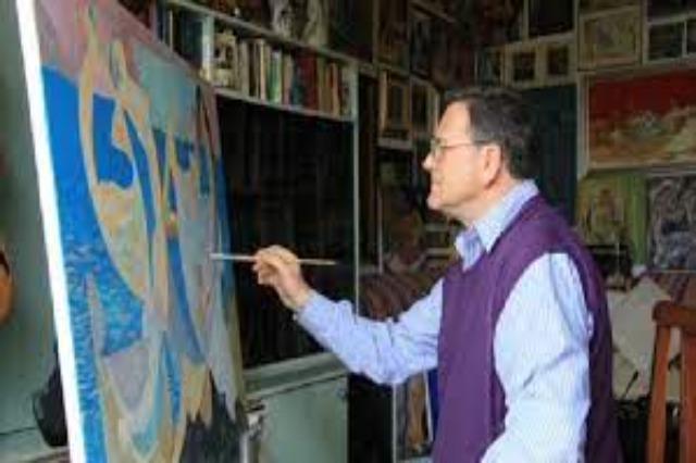 Albanian painter, Nikolet Vasia