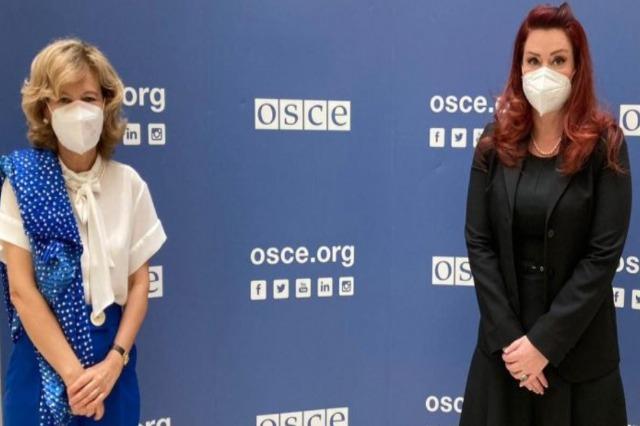 Freedom of the media, AMA Chairwoman meets with OSCE High Representative Teresa Ribeiro