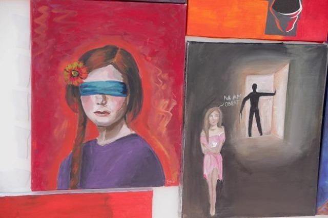 Borba protiv trgovine ljudima, 12 srednjoškolaca iz Manze, poruke svesti kroz slikanje