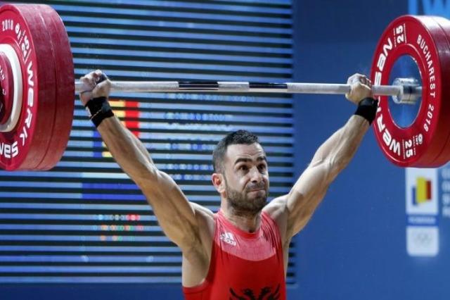 Der  albanische Gewichtheber, Briken Calja, reihte sich auf Platz 4 ein