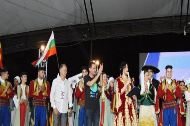 Ensembles from all over the world perform at the Tirana Amphitheater