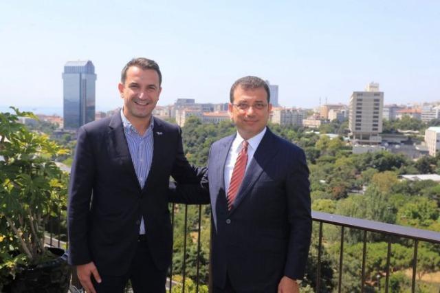 Veliaj rencontre le maire d'Istanbul Ekrem Imamoglu