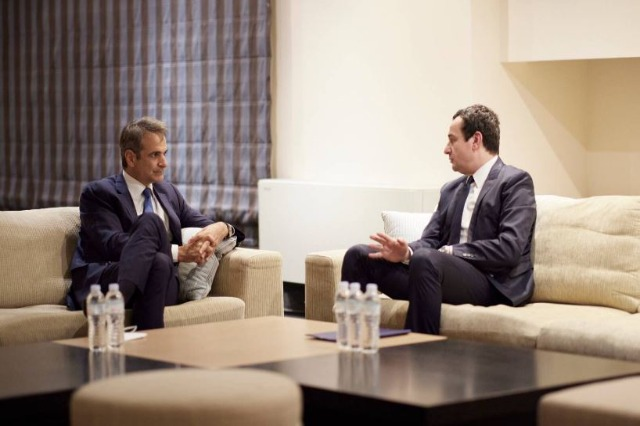 Kurti asks Mitsotakis to join the bloc of countries that have recognized Kosovo