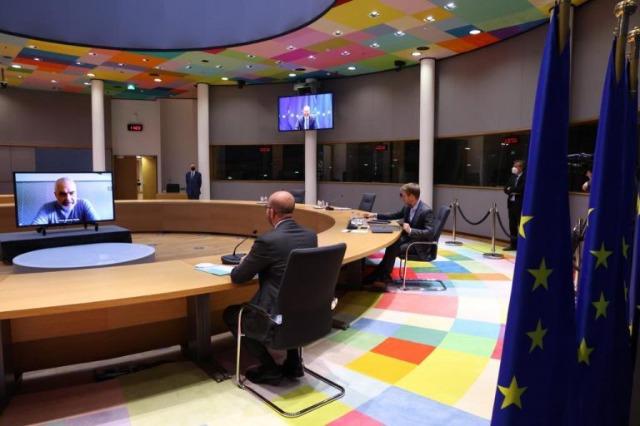 Der Präsident des Europäischen  Rates, Michel gratuliert dem albanischen Regierungschef, Edi Rama