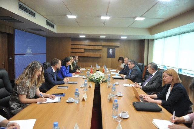 Minister of Justice Gjonaj met with her North Macedonian counterpart, Maricic