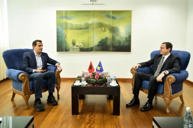 Mayor Veliaj visits Prishtina, meets with Pm of Kosovo, Albin Kurti