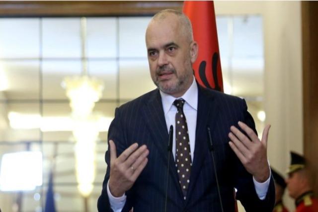 Der albanische Regierungschef, Edi Rama, besucht am 3. September Italien