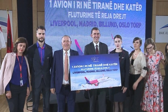 Wizz Air apporte un sixième avion à TIA: lancement de vols directs vers Liverpool, Madrid et Oslo