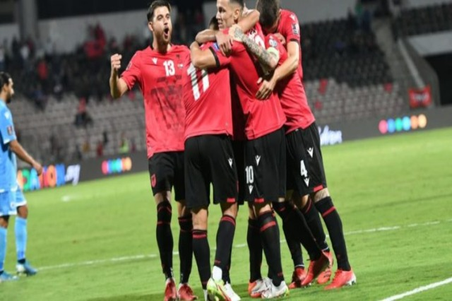 Albania climbs to second place, a deep victory against San Marino