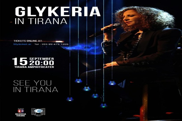 Greek music icon, Glykeria is going to perform live in Tirana