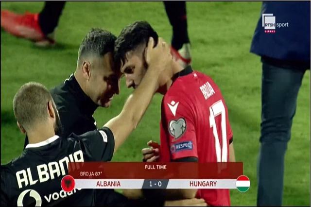 Arnavutluk Takımı - Macaristan Takımı arasındaki maç 1 - 0 sonucuyla tamamlandı