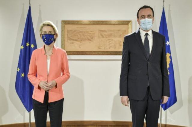 Kosovo PM Kurti meets EC President Ursula von der Leyen