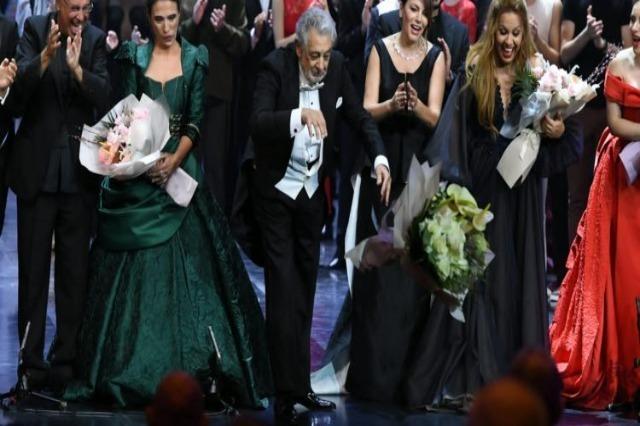 Ο μεγάλος τενόρος Placido Domingo ανέβηκε στη νέα σκηνή του Θεάτρου Όπερας και Μπαλέτου με την Ermonela Jaho