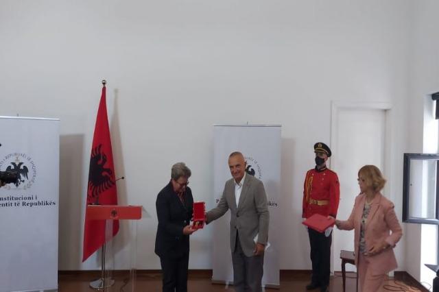 Der albanische Staatspräsident, Ilir Meta, besucht die südostalbanische Region Korça