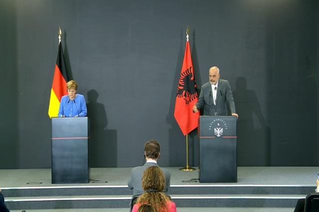 Pressekonferenz des albanischen Ministerpräsidenten, Edi Rama, und der deutschen Bundeskanzlerin, Angela in Tirana (im Wortlaut)