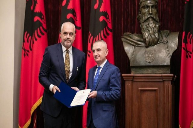 "President Ilir Meta decrees the government ""Rama 3"""