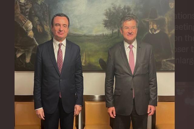 Kosovo's Pm Kurti met with EU High Representative Miroslav Lajčák