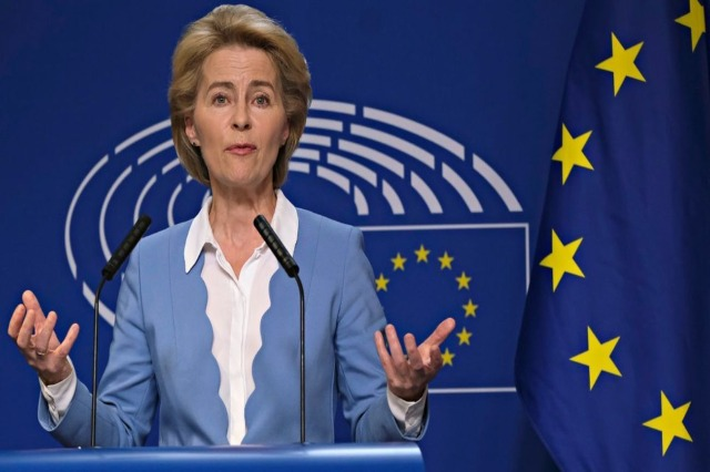 The President of the European Commission, Ursula Von der Leyen, visits Albania on September 28