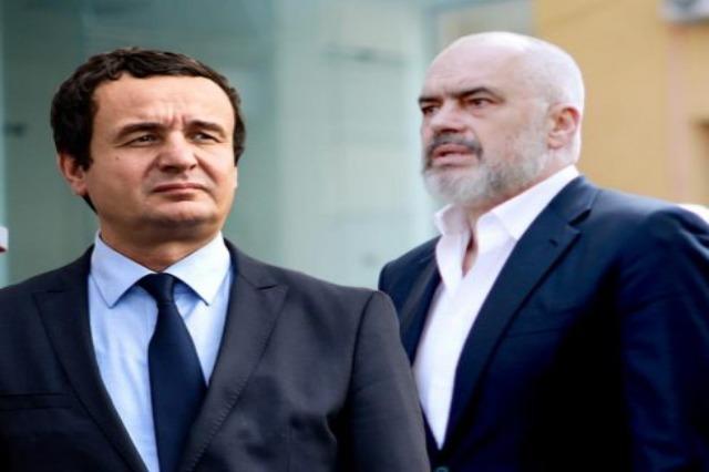 Der Regierungschef von Kosovo, Albin Kurti, schreibt an den albanischen Regierungschef, Edi Rama
