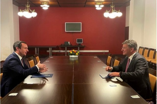 Kurti nach einem Treffen mit Lajçak: Wir haben über die Beziehungen zwischen der EU und dem Westbalkan gesprochen