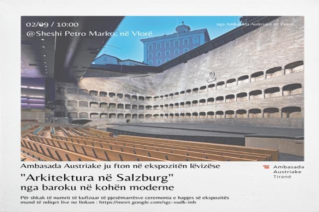 Ausstellung  in der Stadt Vlora über die Architektur in Salzburg