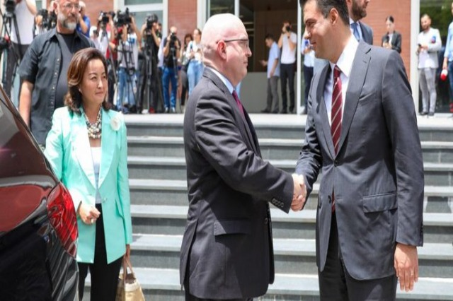 Americans, back to Basha's office! The delegation from the Senate is accompanied by Yuri Kim