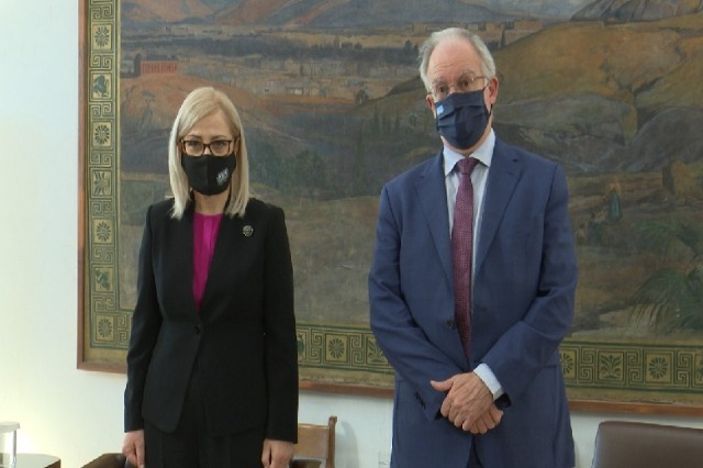 Speaker of Parliament Lindita Nikolla on official visit in Greece