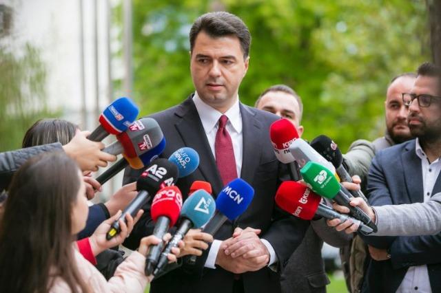 Der demokratische Oppositionschef, Lulzim Basha, empfing eine Delegation des US-Senates