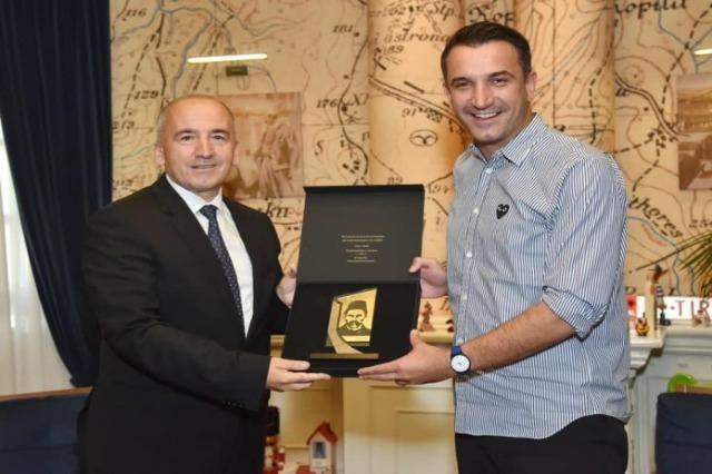 Mayor Veliaj received the Mayor of Peja, Gazmend Muhaxheri
