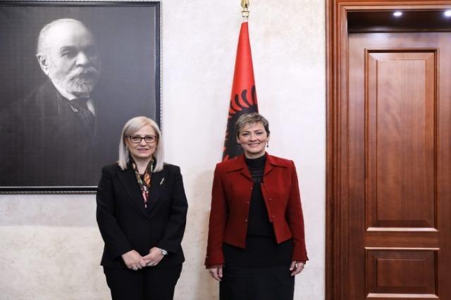 Mayor of Preshevo Valley Ardita Sinani met with Speaker of Parliament, Nikolla