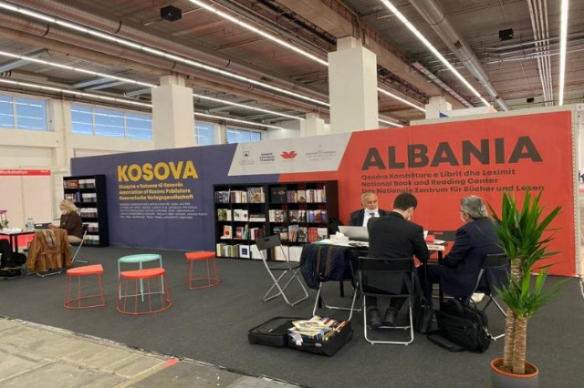 Albanian and Kosovo on the same stand at the Frankfurt book fair in Germany