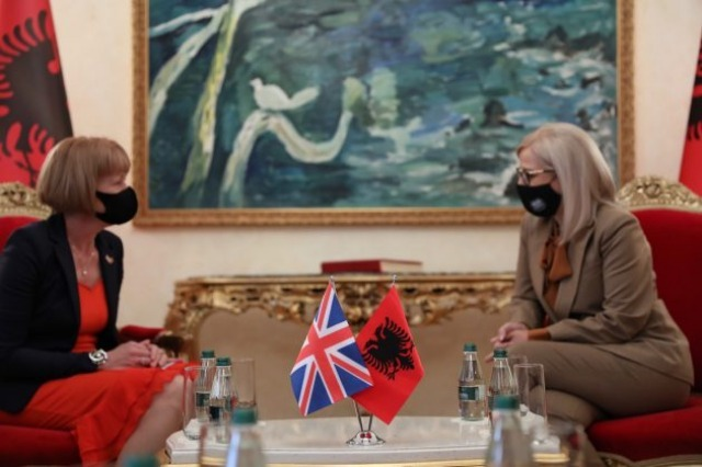 Speaker Nikolla received the Minister of UK for Europe and America, Wendy Morton