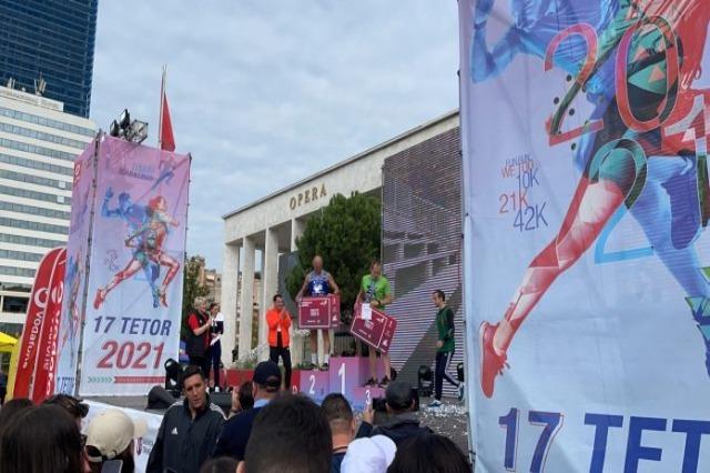 Marathon day in Tirana, athletes run the 42k, half marathon, 10k and We Too course
