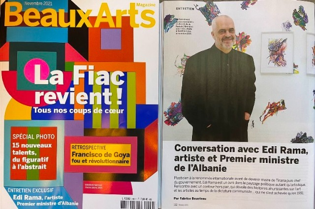 Pm Rama for Beaux-Art Magazine: ''Albania, my country like no other''