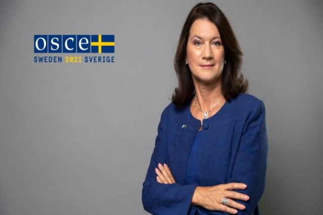 The Chairwoman of the OSCE, Ann Linde, arrives in Tirana today