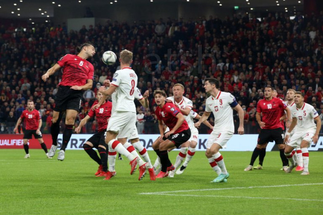 """Dünya Kupası """"Katar 2022"""", Arnavutluk Polonya'ya 0-1 mağlup oldu"""