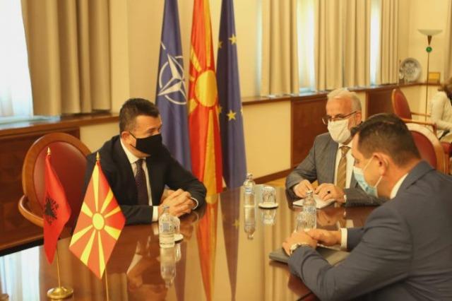 Der Generalsekretär und Fraktionschef der albanischen Sozialisten, Taulant Balla, besucht Nordmazedonien