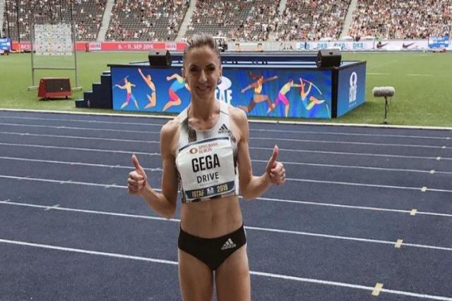 Athlete Luiza Gega wins the Skopje Marathon
